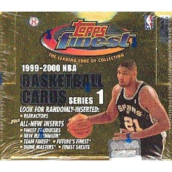 1999/00 Topps Finest Series 1 Basketball Hobby Box