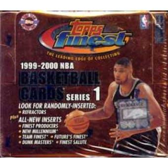 1999/00 Topps Finest Series 1 Basketball Jumbo Box