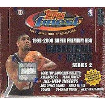 1999/00 Topps Finest Series 2 Basketball Hobby Box