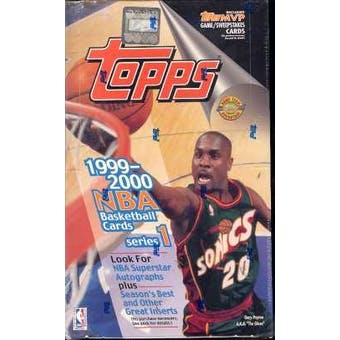 1999/00 Topps Series 1 Basketball Jumbo Box