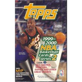 1999/00 Topps Series 2 Basketball Jumbo Box