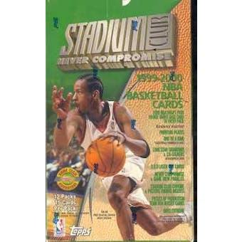 1999/00 Topps Stadium Club Basketball Jumbo Box