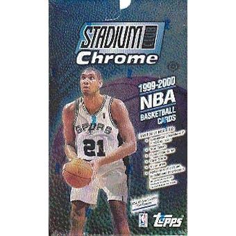 1999/00 Topps Stadium Club Chrome Basketball Hobby Box