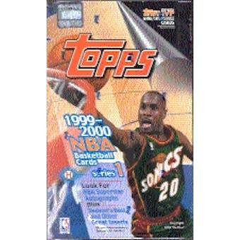 1999/00 Topps Series 1 Basketball Hobby Box