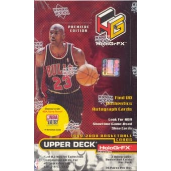 1999/00 Upper Deck Hologrfx Basketball Hobby Box