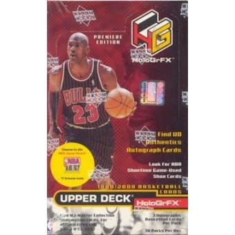 1999/00 Upper Deck Hologrfx Basketball Hobby Box