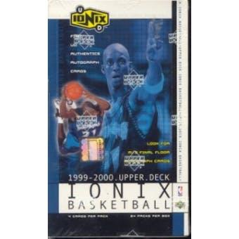 1999/00 Upper Deck Ionix Basketball Hobby Box