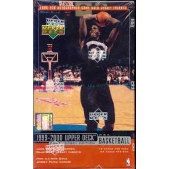 1999/00 Upper Deck Series 2 Basketball Hobby Box