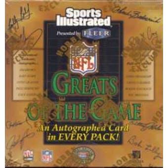 1999 Fleer Greats of the Game Football Hobby Box