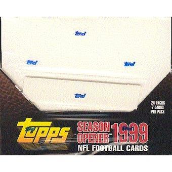 1999 Topps Season Opener Football 24 Pack Box