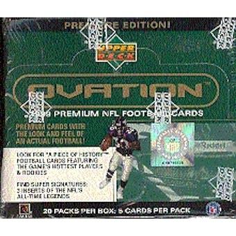1999 Upper Deck Ovation Football Hobby Box