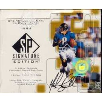 1999 Upper Deck SP Signature Edition Football Hobby Box