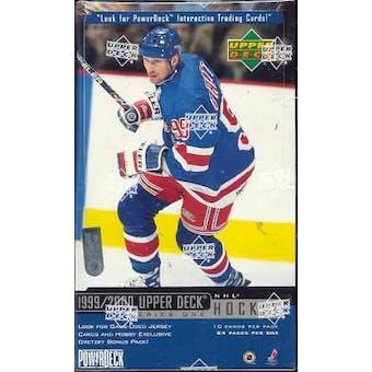 1999/00 Upper Deck Series 1 Hockey Hobby Box