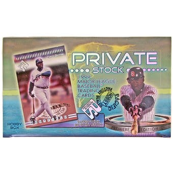 1999 Pacific Private Stock Baseball Hobby Box