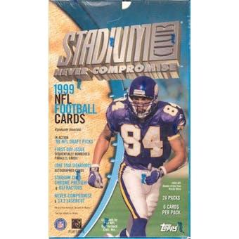 1999 Topps Stadium Club Football 24 Pack Box