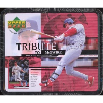 1999 Upper Deck Tribute To Mark McGwire Baseball Lunch (Box) Factory Set