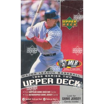 1999 Upper Deck Series 2 Baseball Prepriced Box
