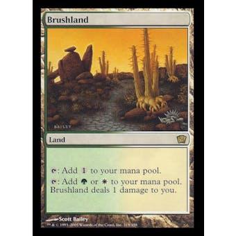 Magic the Gathering 9th Edition Single Brushland Foil - NEAR MINT (NM)