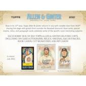 2021 Topps Allen & Ginter Baseball Hobby Box (Presell)