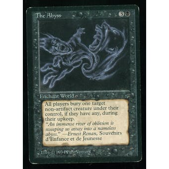 Magic the Gathering Legends Single The Abyss - MODERATE PLAY (MP)
