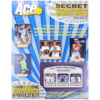 2012 Ace Authentic Secret Tennis Signatures Series 3 Hobby Box (Pack)