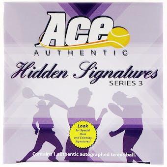 2010 Ace Authentic Hidden Signatures Series 3 Tennis Hobby Box