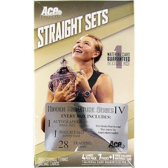 2011 Ace Authentic Hidden Signatures Series 4 Tennis Hobby Box