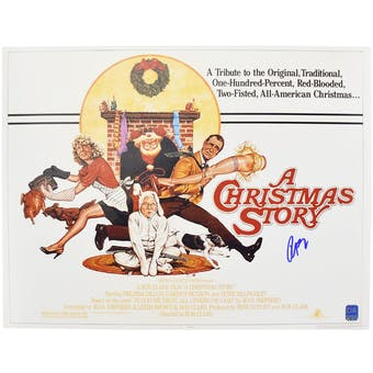 A Christmas Story 11X14 Movie Poster Photo Autographed by Peter Billingsley