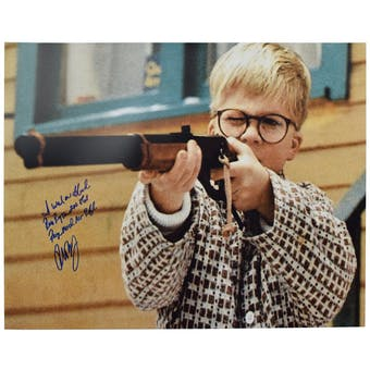 A Christmas Story 16X20 Ralphie Shoot Photo Autographed by Peter Billingsley wtih Inscription!