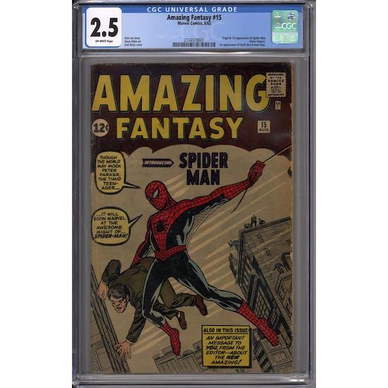 Amazing Fantasy #15 CGC 2.5 (OW) *2104518001