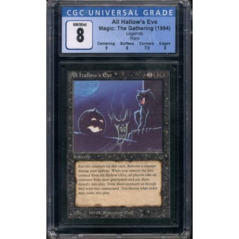 Magic the Gathering Legends All Hallow's Eve CGC 8