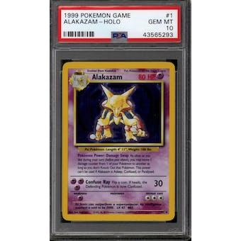 Pokemon Base Set Unlimited Alakazam 1/102 PSA 10 GEM MINT
