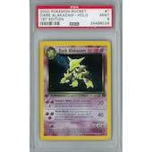 Pokemon Team Rocket 1st Edition Dark Alakazam 1/82 Holo Rare PSA 9