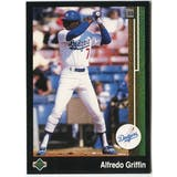 1989 Upper Deck Alfredo Griffin Los Angeles Dodgers #631 Black Border Proof