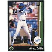 1989 Upper Deck Alfredo Griffin Los Angeles Dodgers #631 Black Border Proof