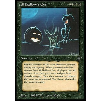 Magic the Gathering Legends Single All Hallow's Eve - HEAVY PLAY (HP)
