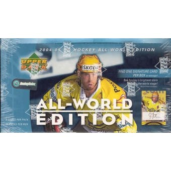 2004/05 Upper Deck All-World Edition Hockey Hobby Box