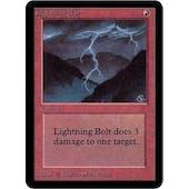 Magic the Gathering Alpha Single Lightning Bolt - NEAR MINT minus (NM-)