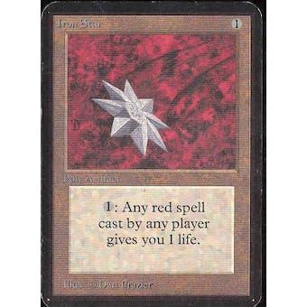 Magic the Gathering Alpha Single Iron Star - MODERATE PLAY (MP)