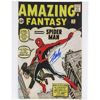 Stan Lee Autographed 11x14 Amazing Fantasy 15 Comic Cover Photo