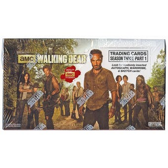 The Walking Dead Season 3 Part 1 Trading Cards Box (Cryptozoic 2014)
