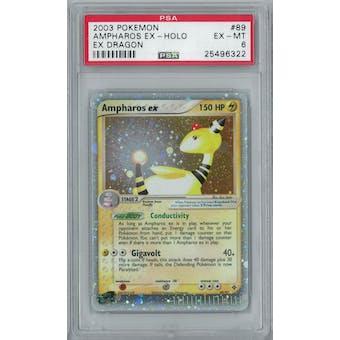 Pokemon EX Dragon Ampharos EX 89/97 PSA 6