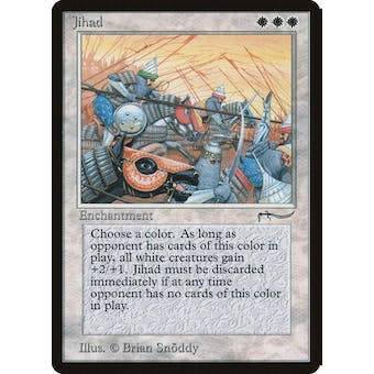 Magic the Gathering Arabian Nights Single Jihad - MODERATE PLAY (MP) Sick Deal Pricing