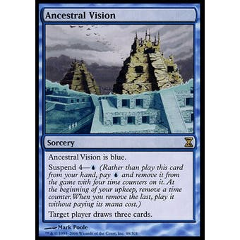 Magic the Gathering Time Spiral Single Ancestral Vision FOIL - MODERATE PLAY (MP) Sick Deal Pricing
