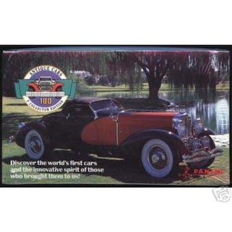 Antique Cars Hobby Box (1992 Panini)