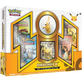 Pokemon Red & Blue Collection Box - Pikachu EX
