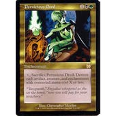 Magic the Gathering Apocalypse Single Pernicious Deed FOIL - SLIGHT PLAY (SP)
