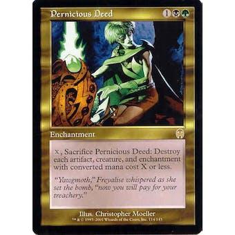 Magic the Gathering Apocalypse Single Pernicious Deed FOIL - SLIGHT PLAY (SP) Sick Deal Pricing