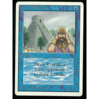 Magic the Gathering Unlimited Ancestral Recall - MODERATE PLAY plus (MP+) slight inking