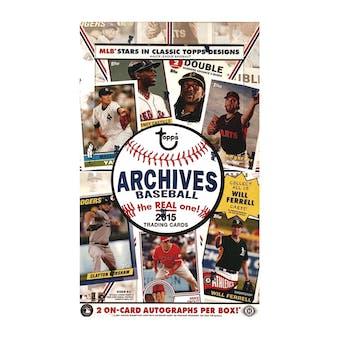 2015 Topps Archives Baseball Hobby Box